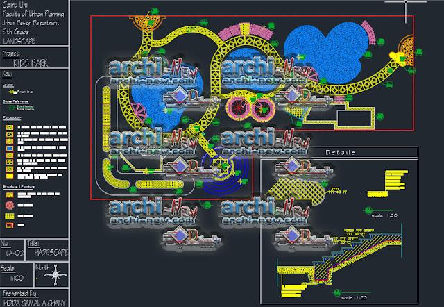 Télécharger le fichier Autocad Architecture Cad Dwg landscape design plan