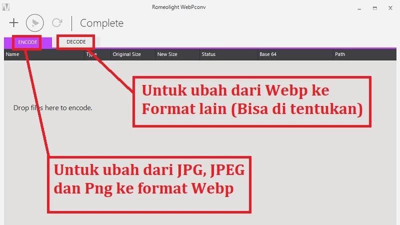 Cara Convert Format Gambar Png, Jpg, Jpeg Ke Webp Secara Offline Gratis