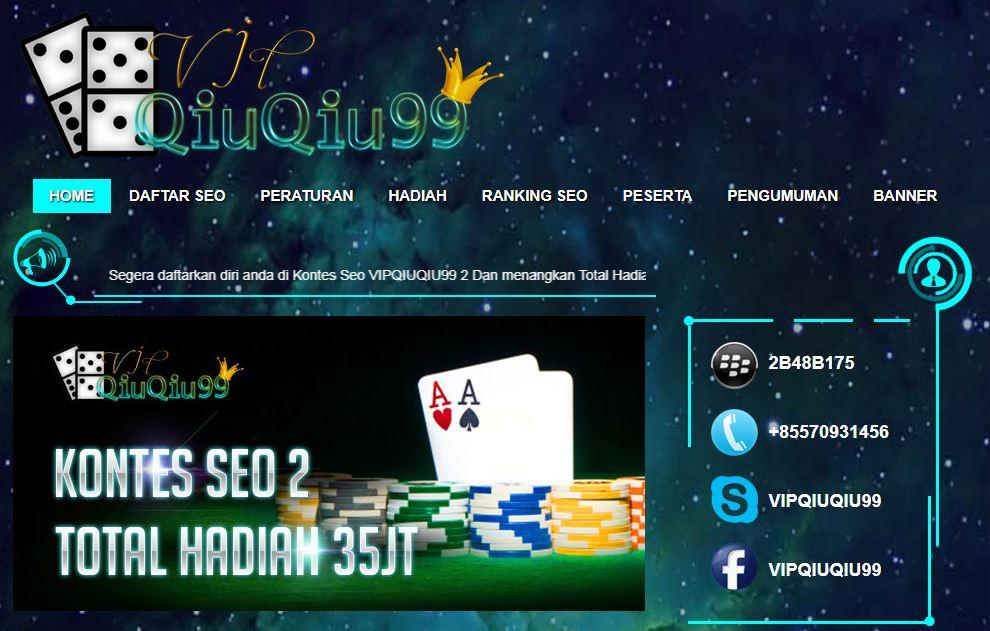 Kontes Seo Terbaru Vipqiuqiu99.com