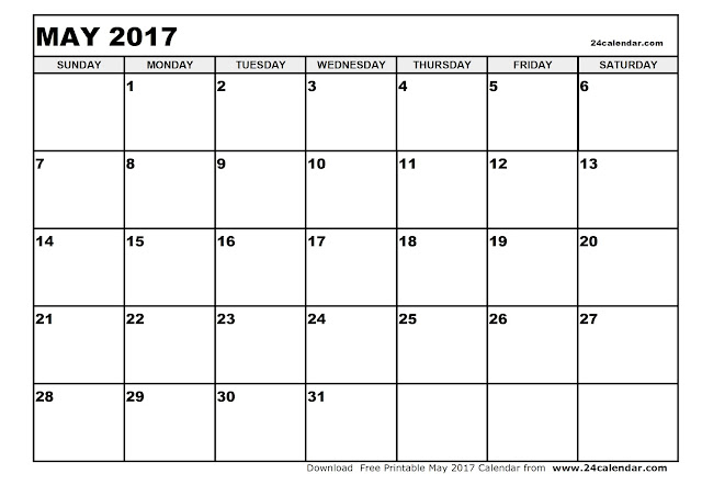 12+ Monthly Calendar 2017 | Printable Templates - Get Printable