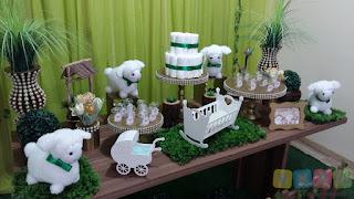 Decoração de chá de bebê Ovelhinhas Porto Alegre