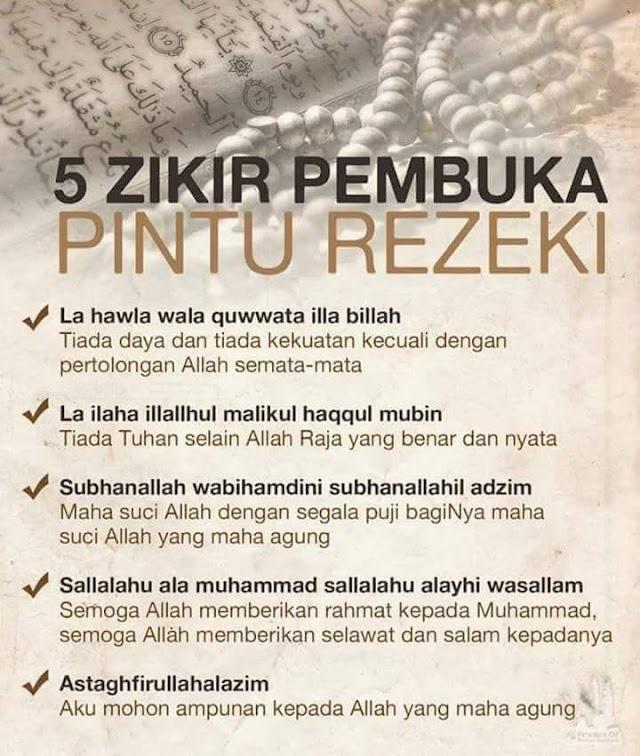 5 Zikir Pembuka Pintu Rezeki!