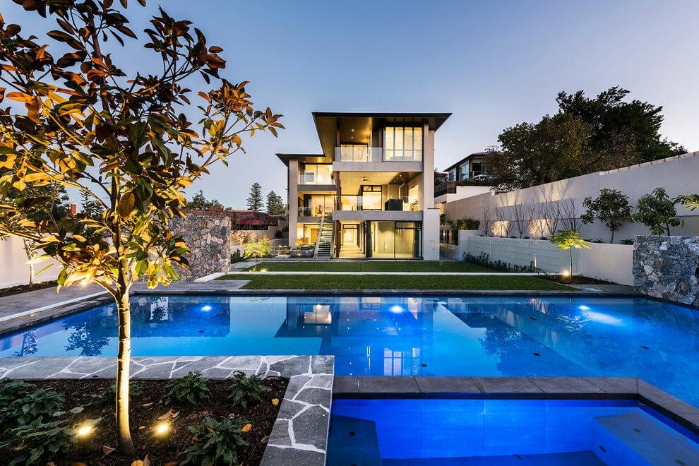 Desain Rumah Mewah 2 Lantai Dengan Kolam Renang & 60 Desain Rumah Mewah 2 Lantai Dengan Kolam Renang Dilengkapi Denahnya
