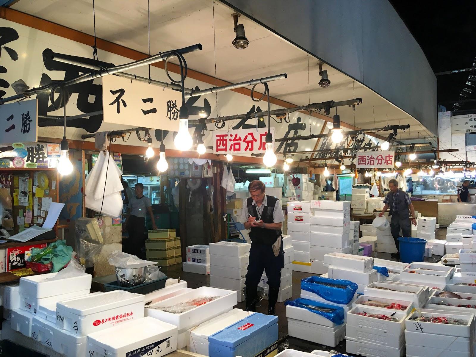 voyage travel au japon à Tokyo Tsukiji marché aux poissons pleins de jolis photographies temples et sanctuaires