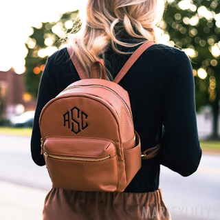 Monogrammed Mini Backpack