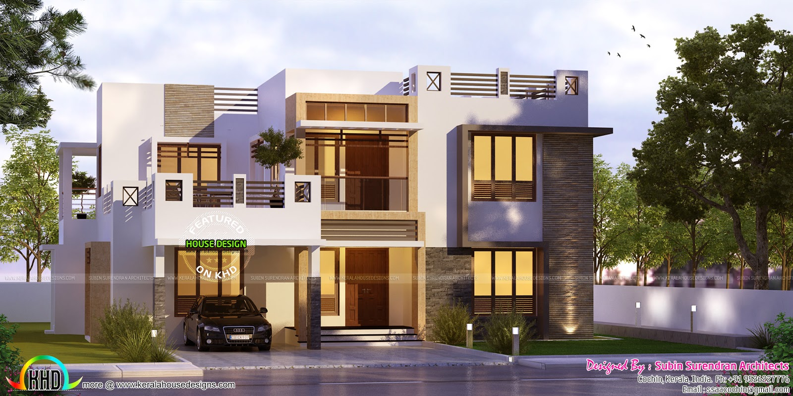 5 bhk 2823 sq ft box type home kerala home design and for Different types of house plans
