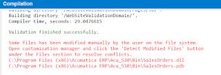 error messages acumatica