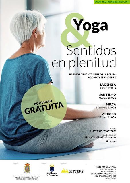 La Concejalía de Bienestar Social pone en marcha la actividad 'Yoga y sentidos en plenitud' en varios barrios de Santa Cruz de La Palma