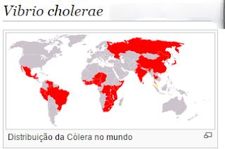 Distribuição da Cólera no mundo