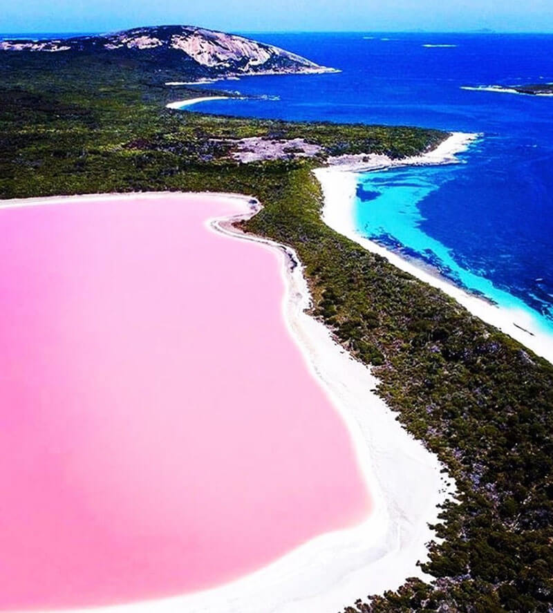 32 Stunning Places on Earth You Should Visit Before You Die - Pink Lake Hillier, Australia