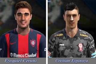 Faces Cristian Espinoza y Ezequiel Cerutti Liga Argentina Pes 2013