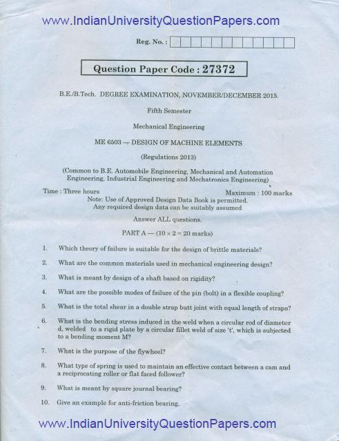 me6503 design of machine elements nov dec 2015 question