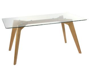 mesa salon moderna roble