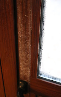 Ice on the inside of the kitchen door