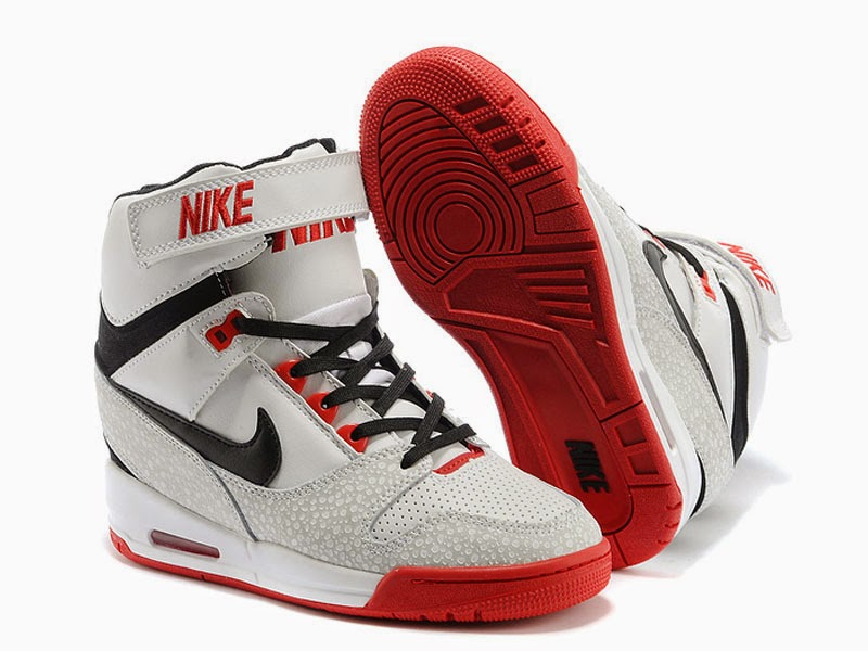 Nike Air Revolution Sky Hi GS 599410 100 Chaussures Montante Nike Pas Cher Pour Femme Blanc Rouge 599410 100 Boutique de chaussures nike officielle