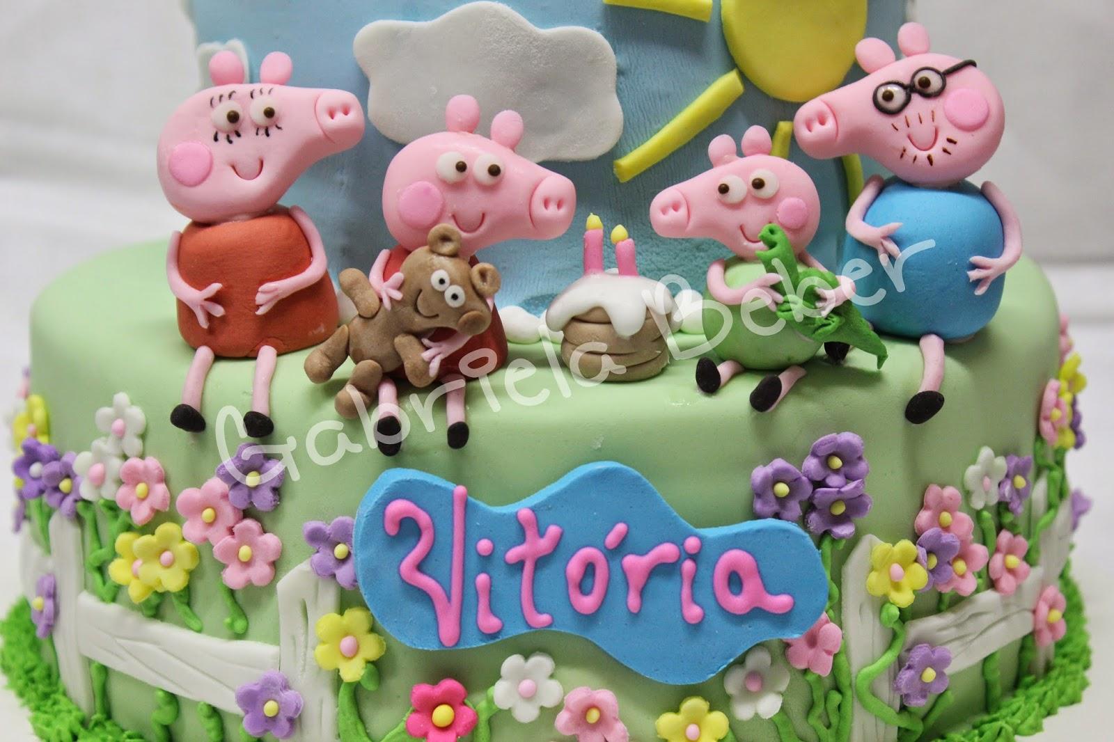Bolos E Doces Personalizados: Bolo Peppa Pig