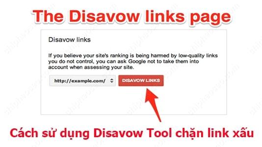 Cách sử dụng Disavow