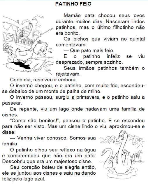 História infantil O PATINHO FEIO