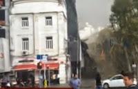 Taksim Dolapdere Dörtyol Ağzı İnşaat Brandası Kazası Haberi