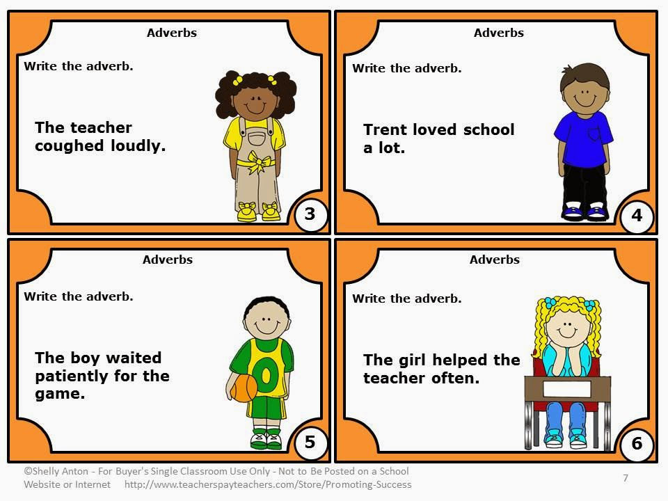Teaching Adverbs and Adjectives Teachers Pay Teachers Promoting-Success