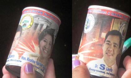 Filipino politicians in sardine cans