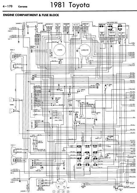 repairmanuals: Toyota Corona 1981 Wiring Diagrams