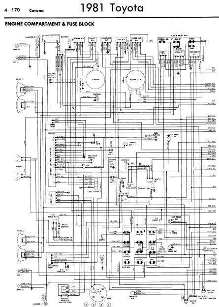 repair manuals toyota corona 1981 wiring diagrams. Black Bedroom Furniture Sets. Home Design Ideas