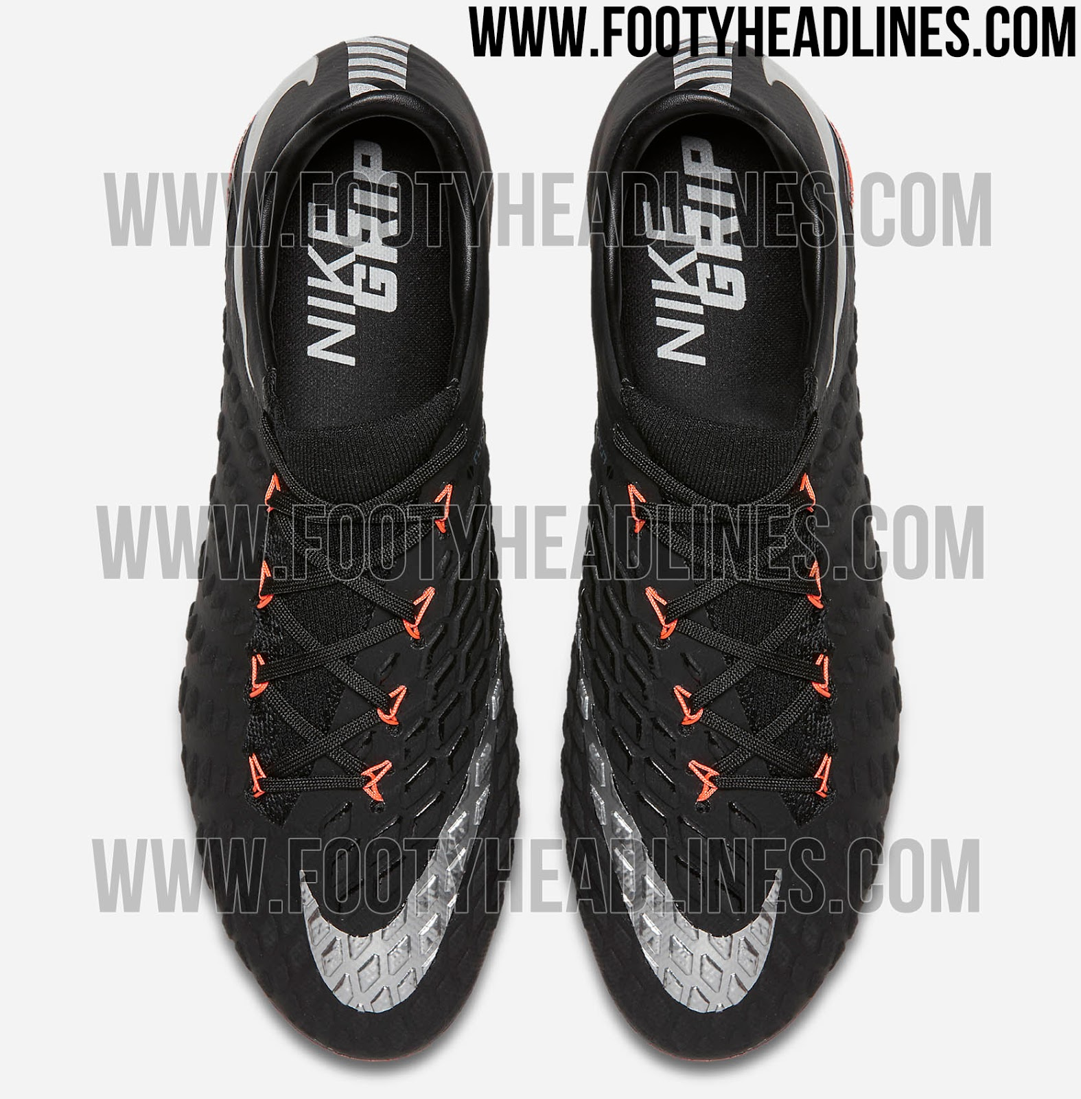 Nike Hypervenom Phantom III FG - Black/Metallic Silver-Black-Anthracite-Total Crimson