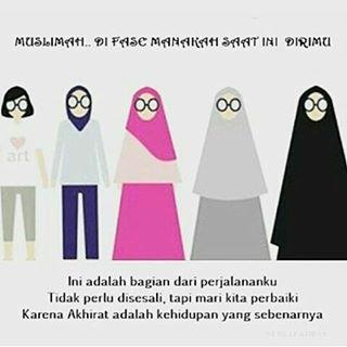 gambar hijrah ke hijab syari