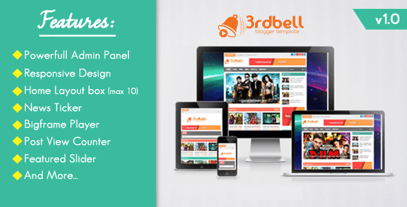 3rdbell Video Responsive Blogger Template Free Download