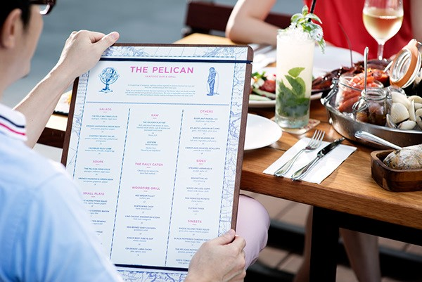 Great Menu Graphic Design by The Pelican