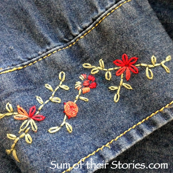 simple cuff embroidery design
