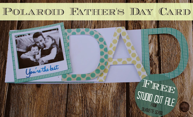 silhouette cameo print and cut father's day, free father's day card