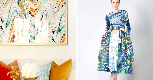 Design Squeezed Daily Trend Spotting Marbled Home D 233 Cor