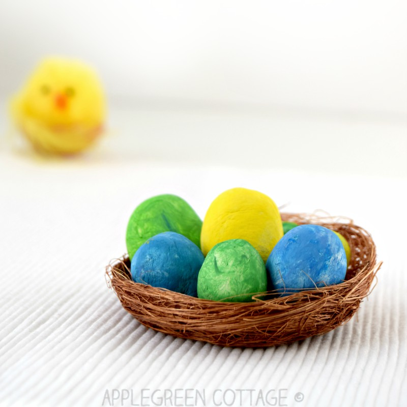 Easter crafts air dry clay eggs applegreen cottage diy easter decoration with clay eggs solutioingenieria Choice Image