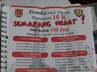 Lomba lari open nasional 10 K Semarang Hebat berhadiah total 143 juta