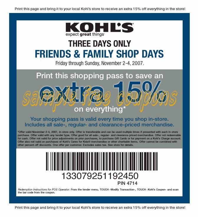 Kohls 30 2014 January Codes