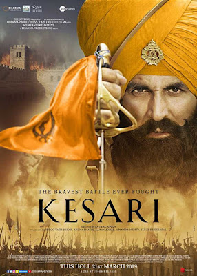 Poster Kesari 2019 Hindi HD 300MB