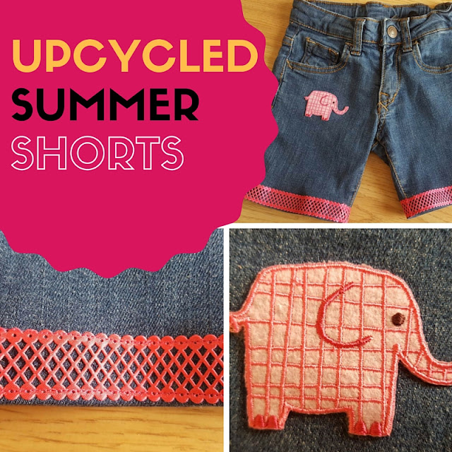 Upcycled summer shorts