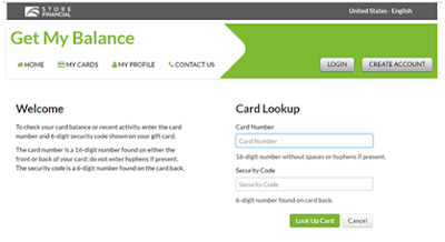 Check Store Financial Card Balance