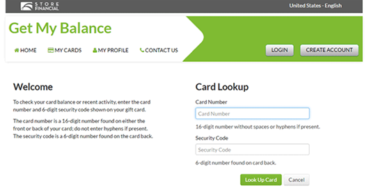 check bp gift card balance check store financial card balance on www getmybalance com 2276