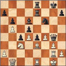 Partida de ajedrez O'Kelly - Francino, posición después de 31.Tg2