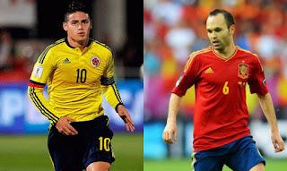 España vs Colombia en partido amistoso internacional