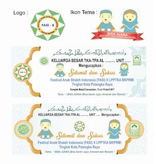 Logo FASI X dan Contoh Spanduk FASI X untuk Unit TPA ~ DPD