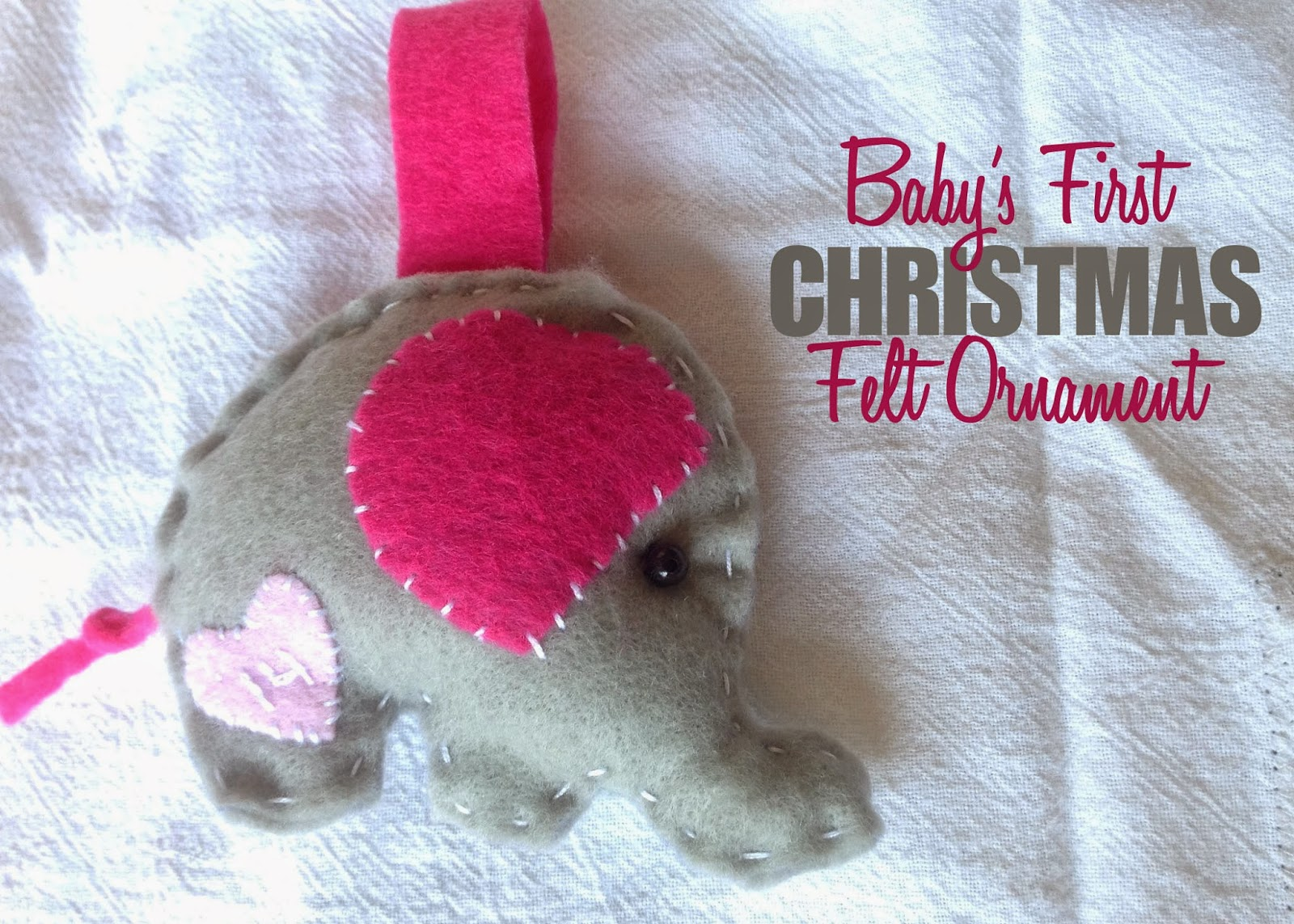 Babys First Christmas Felt Ornament