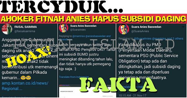 Ahoker Tuduh Anies HAPUS Subsidi Daging, FAKTANYA Anies Justru TINGKATKAN Subsidi dan KOREKSI Sistem Pembelian
