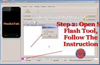 3 - Biarkan SP Flash Tool Membaca Isi File dari Folder Firmware Lenovo A319