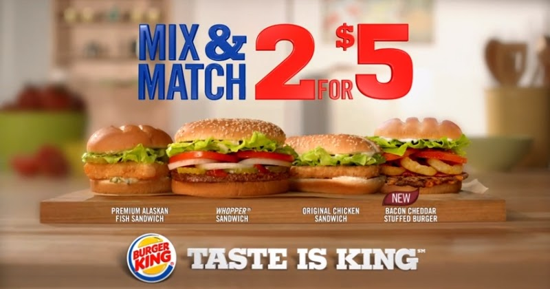 News: Burger King - Two for $5 Mix & Match Deal | Brand Eating