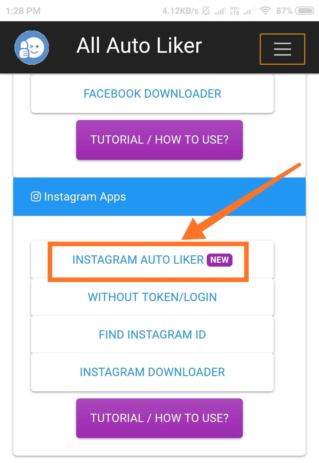 Instagram Auto Liker App - 167 86 90 163
