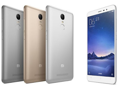 Xiaomi Redmi Note 3 color variants
